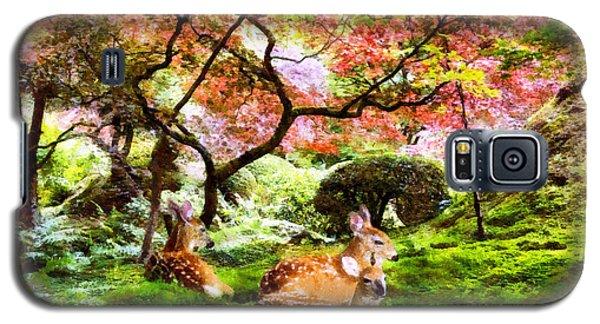 Deer Relaxing In A Meadow Galaxy S5 Case