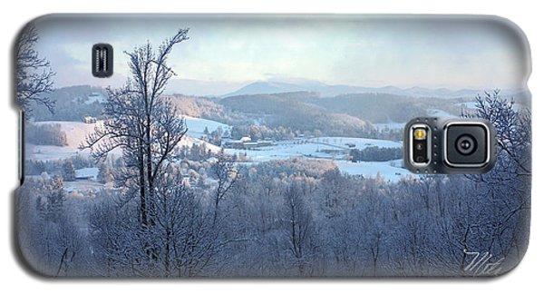 Deer Valley Winter View Galaxy S5 Case by Meta Gatschenberger