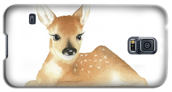 Deer Watercolor Galaxy S5 Case by Taylan Apukovska