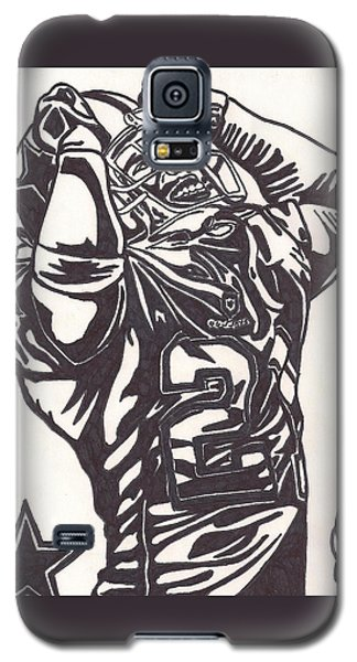 Galaxy S5 Case featuring the drawing Deion Sanders by Jeremiah Colley