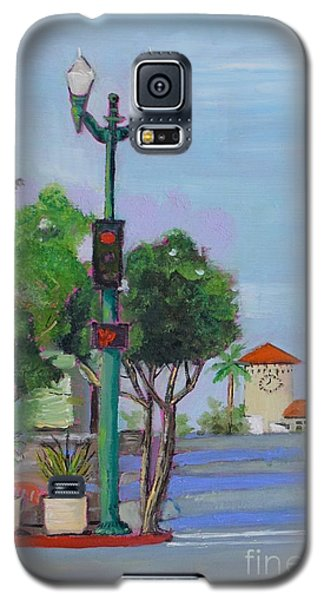 Galaxy S5 Case featuring the painting Del Mar And Ole Vista by Mary Scott