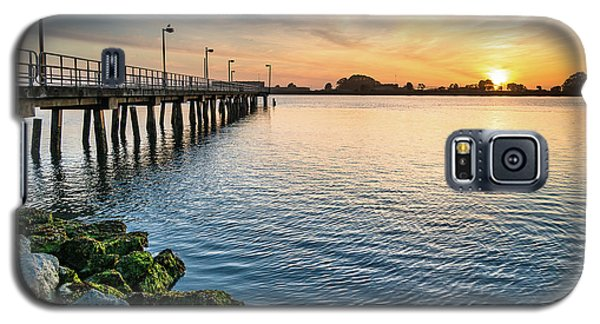 Galaxy S5 Case featuring the photograph Del Norte Pier And Spring Sunset by Greg Nyquist