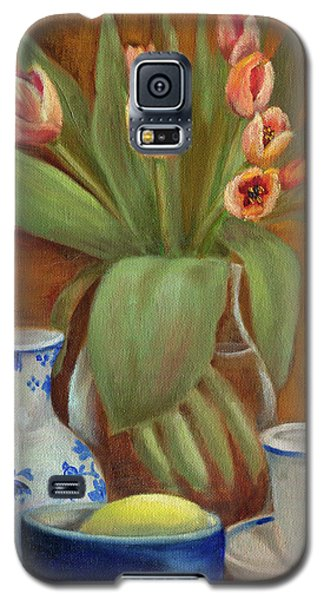 Delft Vase And Mini Tulips Galaxy S5 Case