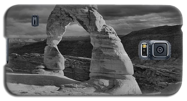 Delicate Arch Black And White Sunset Shadow Galaxy S5 Case