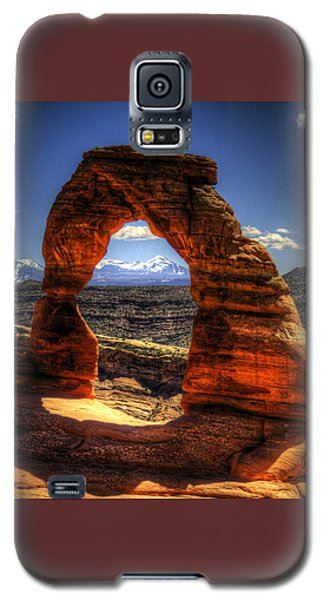 Delicate Arch Framing La Sal Mountains Galaxy S5 Case
