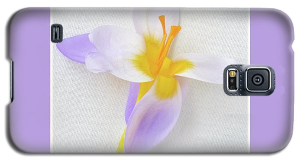 Galaxy S5 Case featuring the photograph Delicate Art Of Crocus by Terence Davis