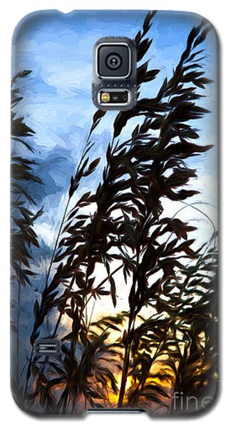 Galaxy S5 Case featuring the painting Delicate Dawn I by Dan Carmichael