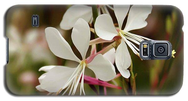 Delicate Gaura Flowers Galaxy S5 Case