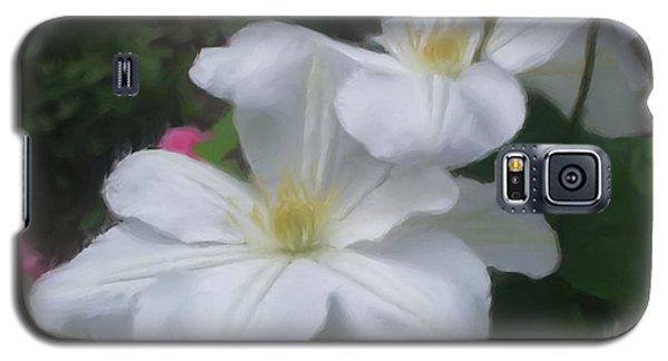 Delicate White Clematis Pair Galaxy S5 Case by Smilin Eyes  Treasures