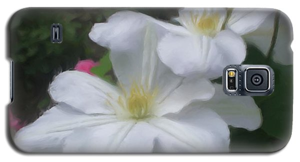 Delicate White Clematis Pair Galaxy S5 Case
