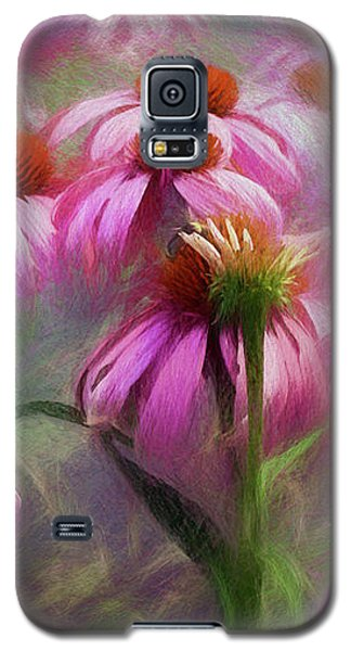 Galaxy S5 Case featuring the digital art Delightful Coneflowers by Diane Schuster