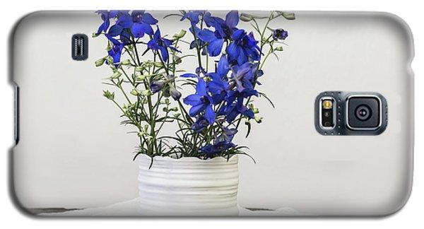 Galaxy S5 Case featuring the photograph Delphinium Blue by Kim Hojnacki