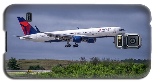 Delta Air Lines 757 Airplane N557nw Art Galaxy S5 Case