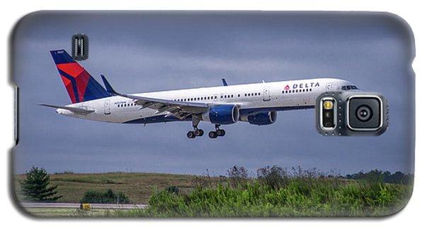 Delta Air Lines 757 Airplane N557nw Art Galaxy S5 Case