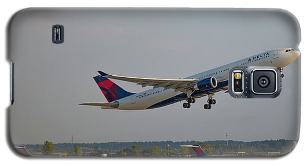 Delta Airlines Jet N827nw Airbus A330-300 Atlanta Airplane Art Galaxy S5 Case