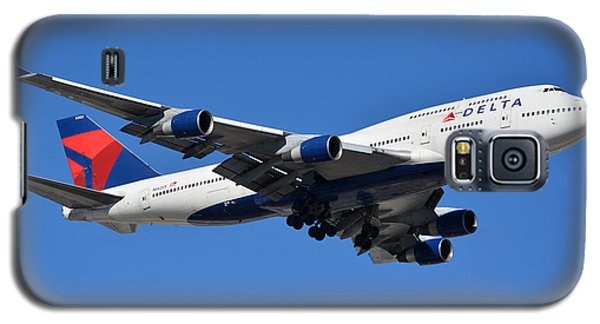 Delta Boeing 747-451 N662us Phoenix Sky Harbor January 12 2015 Galaxy S5 Case