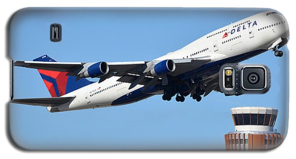 Delta Boeing 747-451 N674us Phoenix Sky Harbor January 12 2015 Galaxy S5 Case