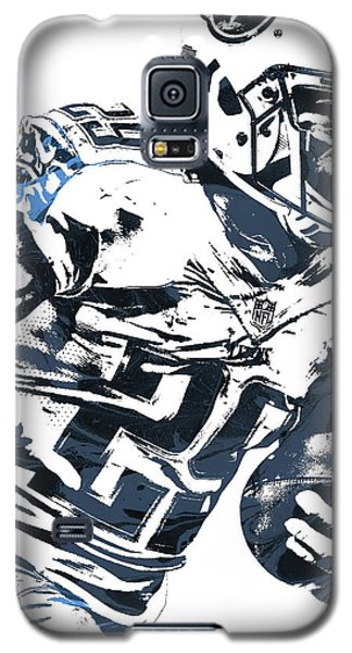 Galaxy S5 Case featuring the mixed media Demarco Murray Tennessee Titans Pixel Art 2 by Joe Hamilton