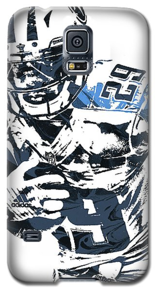 Galaxy S5 Case featuring the mixed media Demarco Murray Tennessee Titans Pixel Art by Joe Hamilton