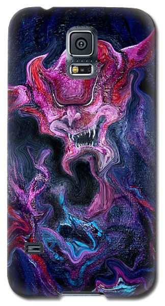 Galaxy S5 Case featuring the painting Demon Fire by Kevin Middleton