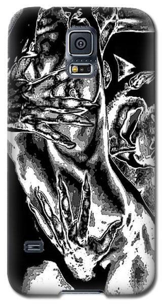 Galaxy S5 Case featuring the painting Demons Kiss by Tbone Oliver