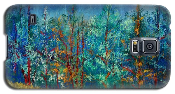Galaxy S5 Case featuring the painting Dense Forest by Karin Eisermann