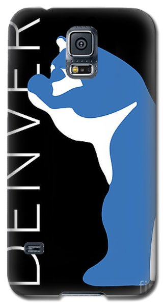 Denver Blue Bear/black Galaxy S5 Case