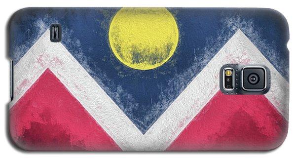Galaxy S5 Case featuring the digital art Denver Colorado City Flag by JC Findley