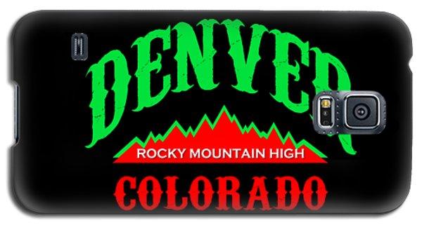 Denver Colorado Rocky Mountain Design Galaxy S5 Case