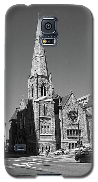 Denver Downtown Church Bw Galaxy S5 Case by Frank Romeo
