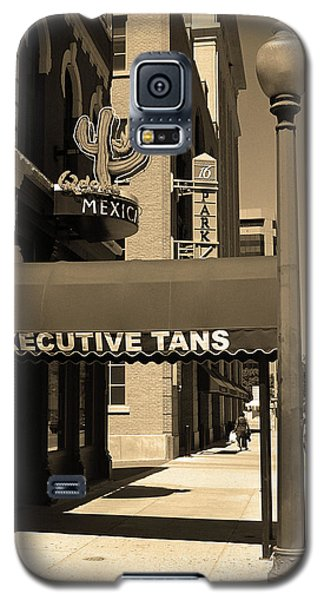 Galaxy S5 Case featuring the photograph Denver Downtown Storefront Sepia by Frank Romeo