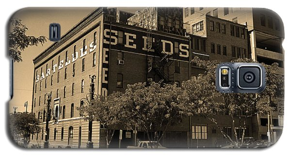 Galaxy S5 Case featuring the photograph Denver Downtown Warehouse Sepia by Frank Romeo
