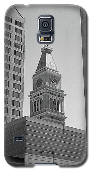 Denver - Historic D And F Clocktower 2 Bw Galaxy S5 Case by Frank Romeo
