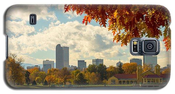 Denver Skyline Fall Foliage View Galaxy S5 Case