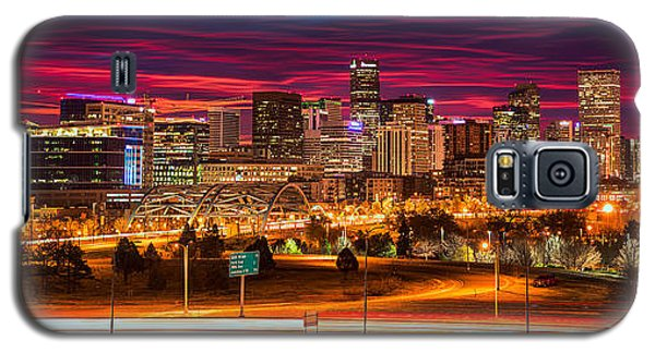 Denver Skyline Sunrise Galaxy S5 Case