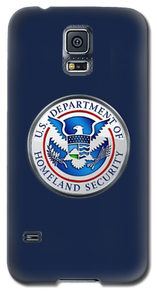 Department Of Homeland Security - D H S Emblem On Blue Velvet Galaxy S5 Case
