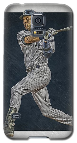 Derek Jeter New York Yankees Art 2 Galaxy S5 Case by Joe Hamilton