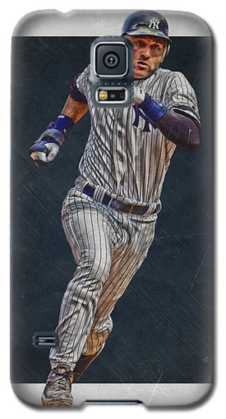 Derek Jeter New York Yankees Art 3 Galaxy S5 Case by Joe Hamilton