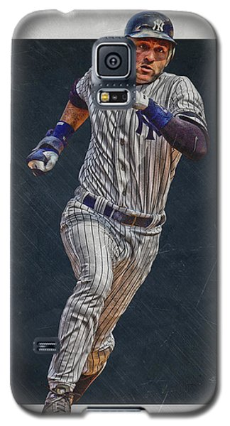 Derek Jeter New York Yankees Art 3 Galaxy S5 Case