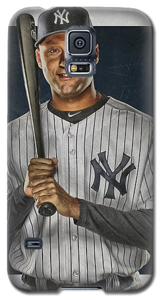 Derek Jeter New York Yankees Art Galaxy S5 Case by Joe Hamilton