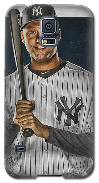 Derek Jeter New York Yankees Art Galaxy S5 Case