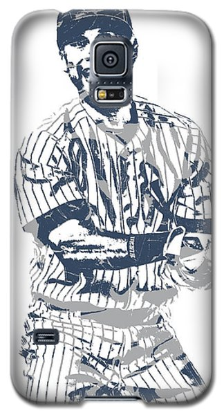 Derek Jeter New York Yankees Pixel Art 13 Galaxy S5 Case