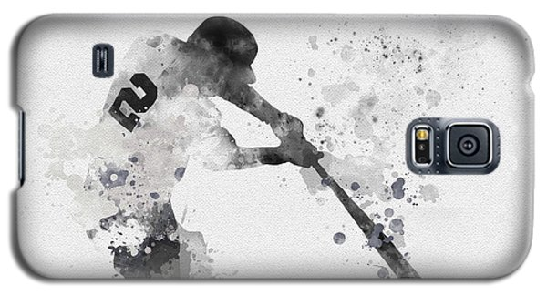 Derek Jeter Galaxy S5 Case by Rebecca Jenkins