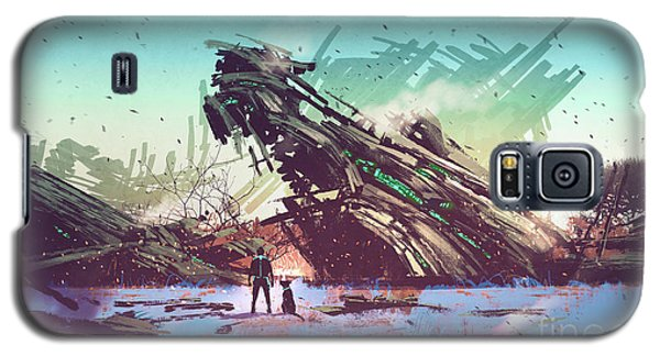 Derelict Ship Galaxy S5 Case