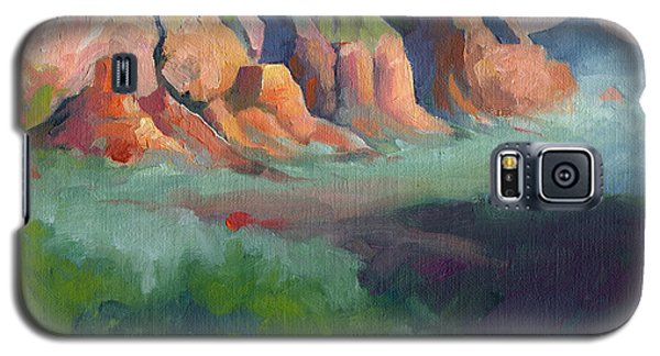 Desert Afternoon Mountains Sky And Trees Galaxy S5 Case