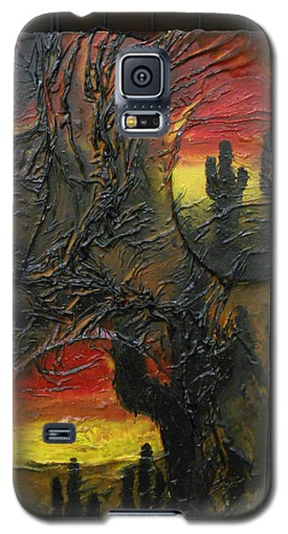 Desert Cactus Galaxy S5 Case by Angela Stout