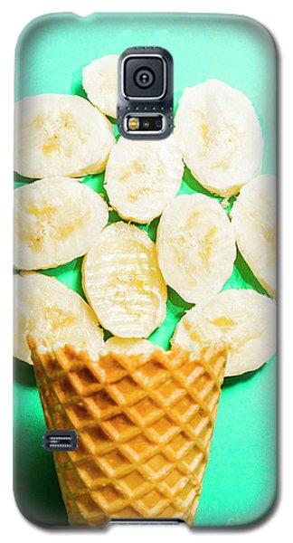Banana Galaxy S5 Case - Desert Concept Of Ice-cream Cone And Banana Slices by Jorgo Photography - Wall Art Gallery