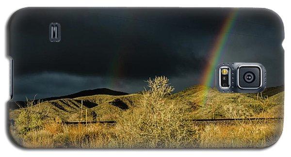 Desert Double Rainbow Galaxy S5 Case