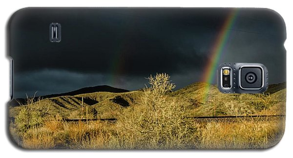 Desert Double Rainbow Galaxy S5 Case