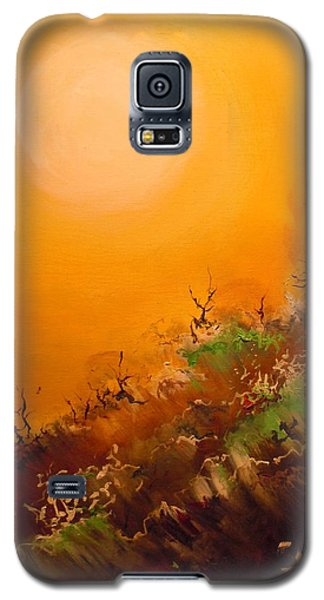 Galaxy S5 Case featuring the painting Hot Desert  Evening  by Dan Whittemore